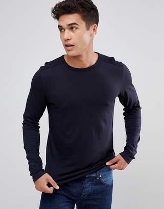 Celio Long Sleeve T-Shirt In Navy