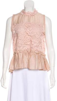 Alexis Lace Open-Back Top