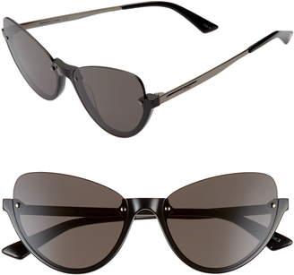 McQ 56mm Semi Rimless Cat Eye Sunglasses