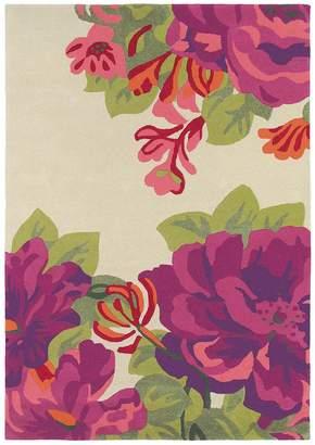 Sanderson Unitex International Midsummer Rose Crimson 45600 Rug