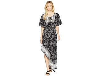 Green Dragon Henna Her Sisters Whitehaven High-Low Maxi Dress Cover-Up Women's Swimwear