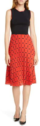 Ted Baker Philisa Tile Print Sleeveless Dress
