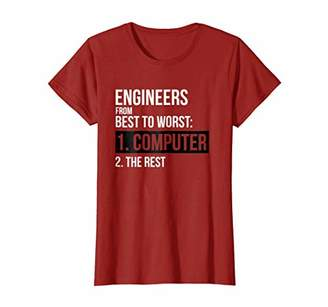 Engineers From Best To Worst Computer Engineering T-Shirt