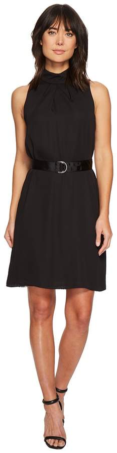 Ellen Tracy Sleeveless High Neck Trapeze Dress