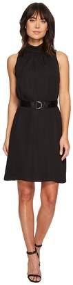Ellen Tracy Sleeveless High Neck Trapeze Dress Women's Dress