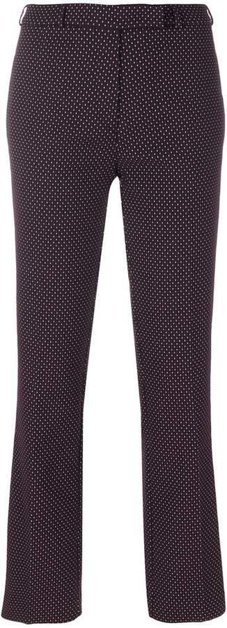 Etro geometric pattern cropped trousers