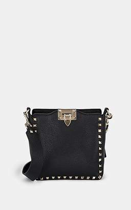 Valentino Women's Rockstud Mini Leather Hobo Bag - Black