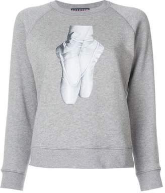 ALEXACHUNG Alexa Chung ballet shoes print sweatshirt
