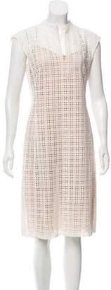 Akris Eyelet Knee-Length Dress