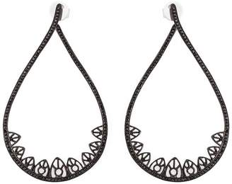 Joelle Gagnard Jewellery gothic teardrop diamond earrings