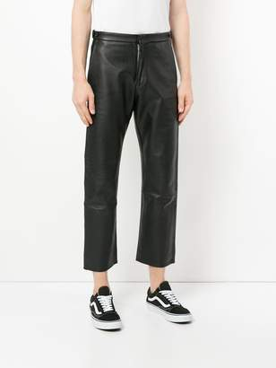 Comme des Garcons Pre-Owned leather effect cropped trousers