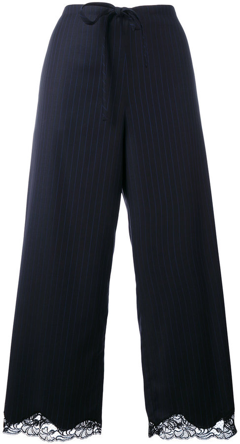 Alexander Wang Alexander Wang pinstriped cropped trousers