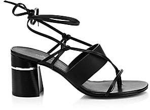 3.1 Phillip Lim Women's Drum Strappy Leather Block Heel Sandals