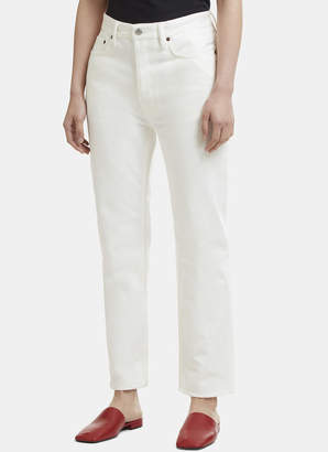 Acne Studios Straight Leg Jeans in White