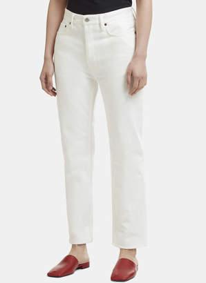 Acne Studios Straight Leg Jeans in White