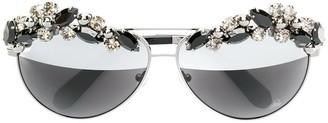 Philipp Plein crystal embellished sunglasses