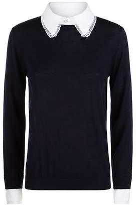 Claudie Pierlot Lace Trim Sweater