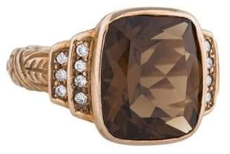Stephen Dweck Smoky Quartz & Diamond Cocktail Ring