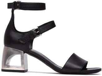 Vic Matié Vic Matie' Black Sandal With Closed Heel And Mini Straps
