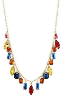 Design Lab Sterling Silver Multicolored Collar Necklace