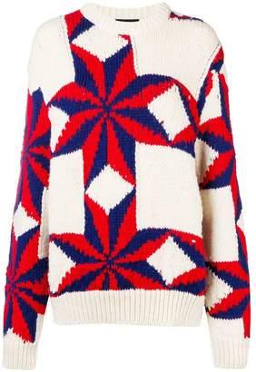 Calvin Klein star intarsia knit jumper