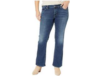 Silver Jeans Co. Plus Size Suki Mid-Rise Curvy Fit Slim Boot Jeans in Indigo