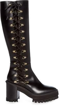 Cesare Paciotti Lace-Up Block Heel Boot