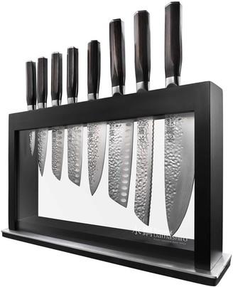 Baccarat Damashiro Emperor Hisa 9 Piece Knife Block