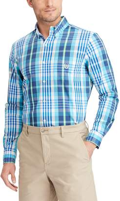 Chaps Big & Tall Easy Care Stretch Plaid Shirt