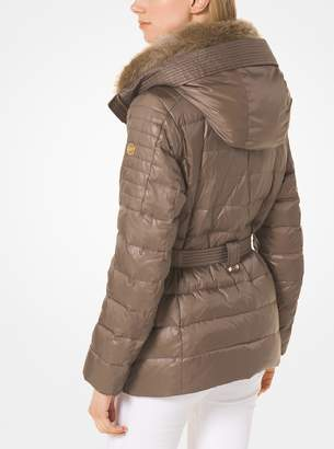3f14d4ab75e3 at Michael Kors · MICHAEL Michael Kors Quilted Down and Faux Fur Puffer  Jacket