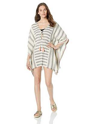7301bf2837 Michael Stars Women's Jill Yarn Dyed Stripe Coverup with Tassels
