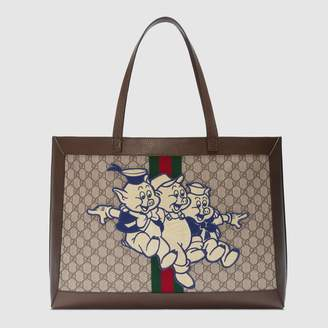 Gucci Ophidia GG tote with Three Little Pigs