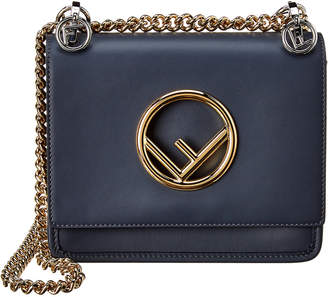 Fendi Kan I F Small Leather Shoulder Bag