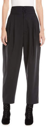 Marc Jacobs High-Waist Wool Tapered Trousers