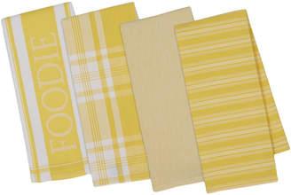 Design Imports Set Of 4 Gourmet Kitchen Dish Towels