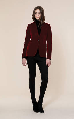 Soia & Kyo EMMY slim fit velvet blazer with notch collar