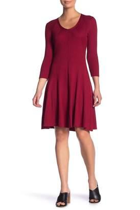 Gabby Skye Ribbed Sweater Dress