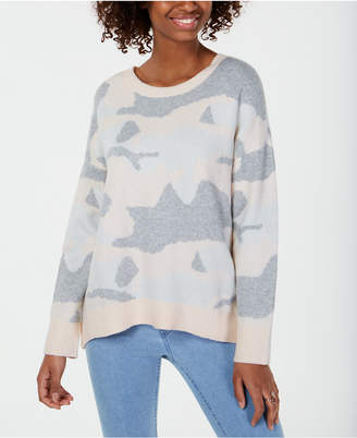 Ultra Flirt By Ikeddi Juniors' Camo Pullover Sweater