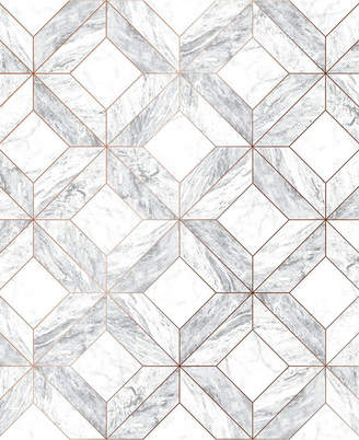 Graham & Brown Marble Marquetry Gray Wallpaper