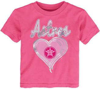 Outerstuff Houston Astros Unfoiled Love T-Shirt, Toddler Girls (2T-4T)