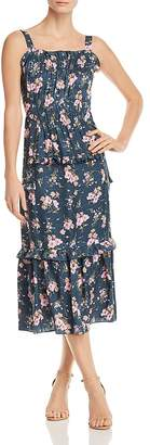 Rebecca Taylor Emilia Floral-Print Silk Midi Dress