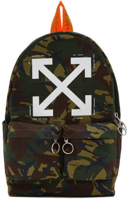 Off-White Multicolour Camouflage Backpack