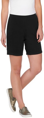 Denim & Co. Active French Terry Shorts with Stitch Details
