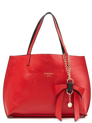 N. Persaman New York Delila Leather Tote N' Convertible Clutch