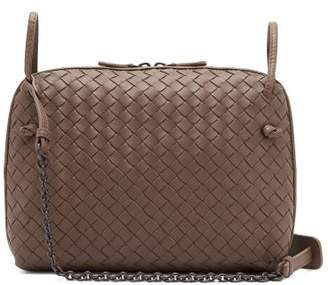 ed122395431a Bottega Veneta Nodini Intrecciato Leather Cross Body Bag - Womens - Grey