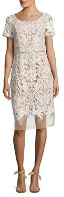 NUE by Shani Embroidered Knee-Length Dress
