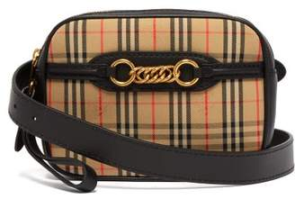 Burberry Haymarket Check Leather Belt Bag - Womens - Black Multi