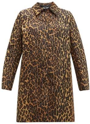 Miu Miu Padded Leopard Print Technical Twill Coat - Womens - Leopard