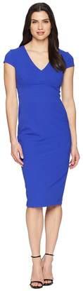 Donna Morgan Crepe Sheath Dress with Cap Sleeve Women's Dress