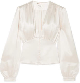 Saint Laurent Silk-satin Blouse - Ecru